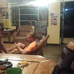 Mabuya Camp bar, favorite of travelers, volunteers and locals with membership