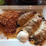 Beef enchiladas!
