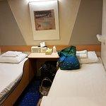 Inside 2-bed cabin - beds