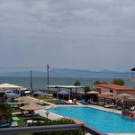 Our sea view also overlooking the pool