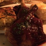 Roast Duck with Corn Pudding and Scalloped Potatoes