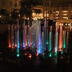 The musical fountains