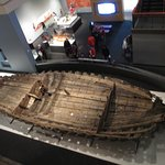 The hull of the LA Belle, a French ship found off Matagorda in 1995. It is on permanent display