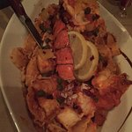 Seafood special with lobster and other seafood and pasta