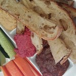 Dip platter - the bread was very hard. This was quite expensive for what you got.