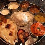 Thalis lunch with Chicken Tikka Masala