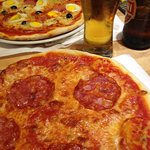 Pizza and Beer...yumm!!