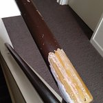 Stair banister peeling paint is the same on down stairs railing,