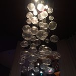 chandelier above our table