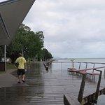 Walking along Esplanade