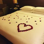 Rose petals organised for us