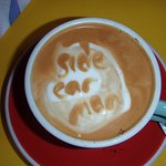 I do not know who else can write on their coffee.The food no matter what is just as good.