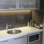 Kitchenette with nice lighting