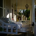 one of the porch swing, so comfy. I think this was my husbands favorite part