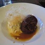 Sticky Date pudding, Hokey Pokey ice cream & spun sugar topping