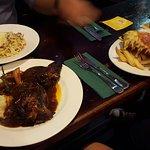 Carbonara, lamb shanks and chicken parmigiana
