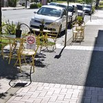 Outside street seating