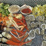 Seafood on the brunch spread