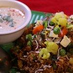 Vegetable Biryani with Raita curd