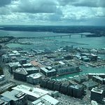 Auckland bridge from Orbit restaurant