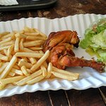 Poulete Frites (Chicken Cooked French Style & Green Salad & French Fries)