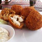 Brazilian style chicken croquettes
