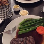 Steak and Frites with Asparagus