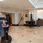 Lobby, with piano player.