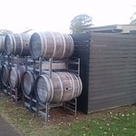 Barrel display outside
