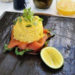 Don't miss the truffle infused scrambled egg & salmon for breakfast