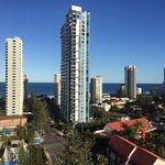 Surfers Paradise beach from room
