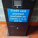 Adjacent Car Park machines on all levels but credit card payments only accepted on certain floor