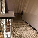 Up stairs to the suite