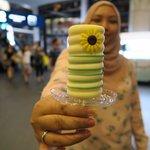 Delicious durian ice cream