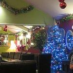 Christmas decs in the restaurant