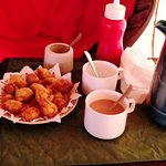 we were served pakoras and chai on arrival