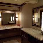 Nice bathroom sink area...roomy!