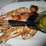 grilled prawn with lemon olive oil