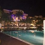 One pool area at night