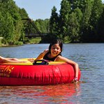 Tubing on the Saugeen River...