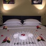 A beautiful welcome to the room
