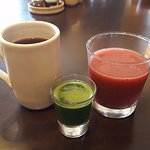 Delicious, fresh juices and coffee