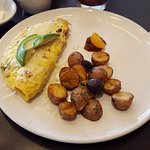Omelet and potatoes were near perfect