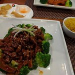 Spicy Mongolian Beef with rice