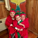 Happy little Elves on their way to the Polar Express!