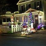 Cedar House Decorated for holidays