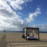 cabana beds on the beach