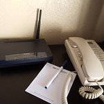 Our own wi-fi router in the room.