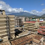 View of Mt Meru from rooftop