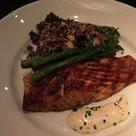 Smoked and fire grilled Salmon-ordered medium. Outcome Fantastic